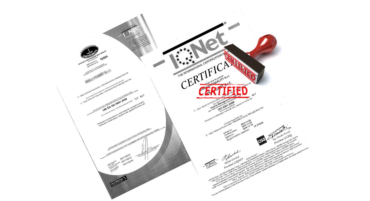 MGI industry certificazione qualità iso 9001